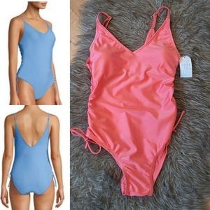 TIME AND TRUE - NWT  Coral One-piece Swimsuit